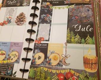 Yule Planner Stickers
