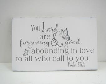 Painted Scripture Sign/Inspirational Love Sign/Religious Sign