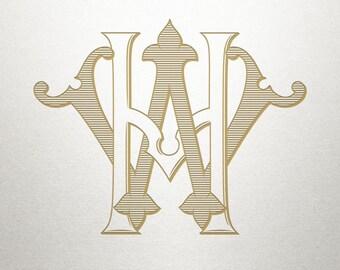 Wedding Logo Design - HW WH - Wedding Logo - Digital