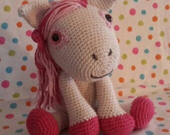 Pony girl crochet blanket