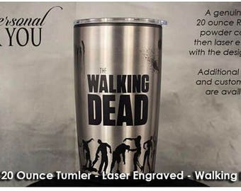 Yeti,The Walking Dead,Yeti 20oz Tumbler,Laser Engraved Tumbler