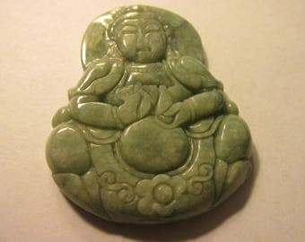 Carved Chinese Grayish-Green Jade Pendant of Kwan Yin, 2""