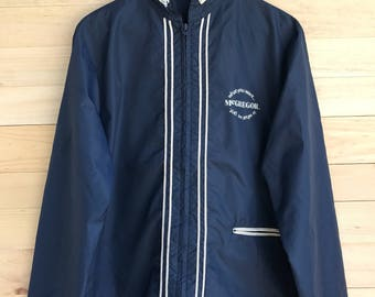 Rare! Vintage Mc Gregor Zipper Jacket Windbreaker Size Medium