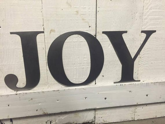 "JOY 6"" individual letters"