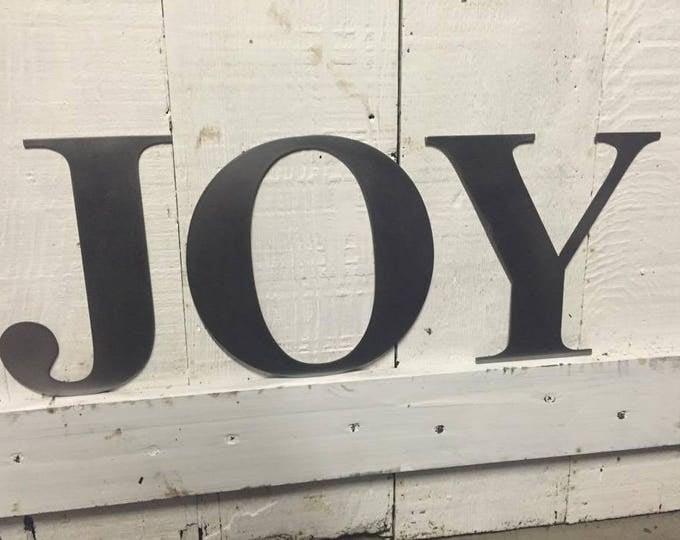 "JOY 6"" individual letters"
