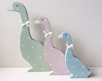 Duck Family - Freestanding Ducks, 3 Ducks, Flying Ducks, Pastels, Geese, Duck Decoration, Pretty Ducks.