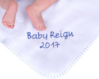 Personalised Baby Blanket / coming home / receving blanket / newborn blanket / personalised wrap / baby shower gift / baby girl / baby boy
