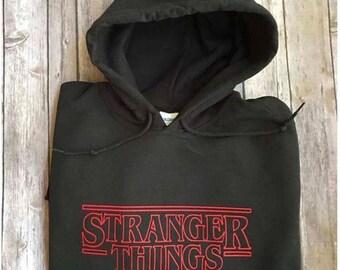 Stranger Things/Hooded Sweatshirt/Pullover/Plus Size Hoodie/Unisex Sweatshirt/Unisex Clothing/Statement Hoodie/Custom Hoodie