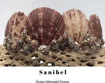 Mermaid Crown, Shell Crown,Festival Crown, Seashell Crown - SANIBEL