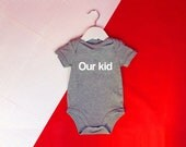 Mancunian Baby Grow - Our Kid Baby Grow - Manchester Baby T Shirt - Cute Manchester Slang Baby Grow