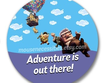 "Up ""Adventure is Out There!"" Inspired 3"" Pinback Button"