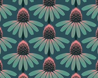 Freespirit- Anna Maria Horner- Floral Retrospective - Echinacea in Dim