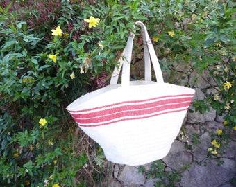 Zipped beach bag or grocery hemp