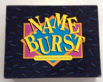 Vintage 1992 NAME BURST GAME by Hersch company