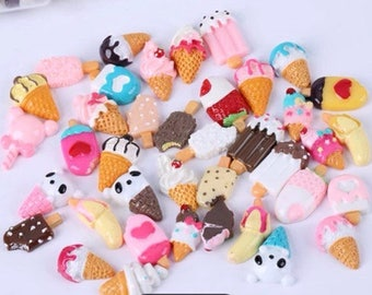 kawaii ice cream resin