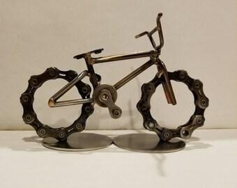 Bmx bike sculpture scrap art