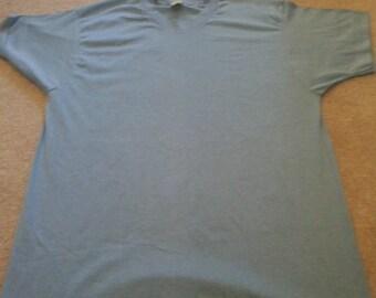 USA Made Vintage Blank 80s/90s T-Shirt JERZEES 50/50 light Blue Medium M
