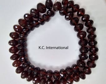 Hessonite Garnet Faceted Beads, Hessonite Faceted Beads, 17 Inch long strand