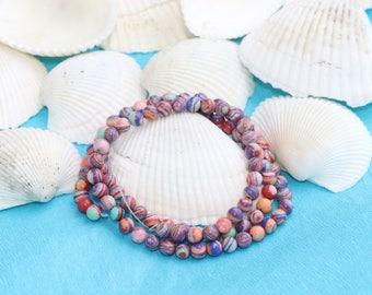 4mm Pink Malachite Beads, Natural Jewelry Beads,pink beads, Gemstone, Natural Bead, Full Strand (130 Pieces),Malachite Bead,SKU/MRY77