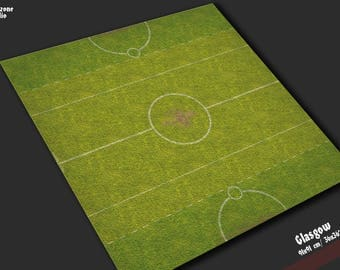 Battle mat: Glasgo - Guild Ball game board, table map scenery for fantasy football boardgame terrain