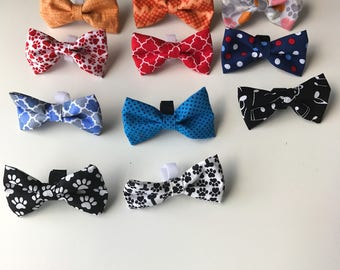Patterned Dog Bow Ties