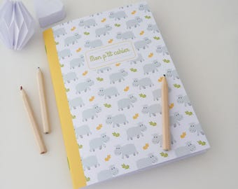 Child 14x20cm little hippos illustrated notebook