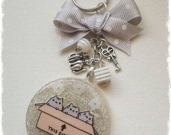 Resin Keyring with glitter and stickers