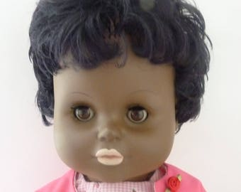 Vintage 1960's Black Doll - Edith