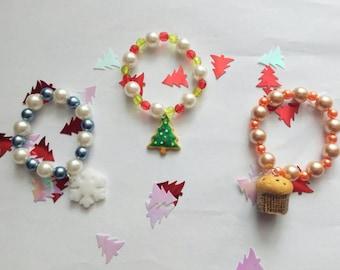 """Merry Christmas"" bracelets"