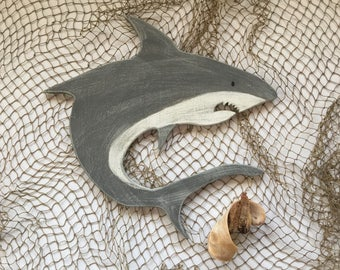 Shark Beach Art Decor Boys Room