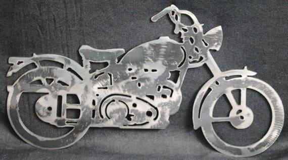 1948 Hummer, Metal Wall Art, Metal Motorcycle, Classic Motorcycle, Harley Inspired, 1948 Memorabilia, Biker, B-Model, Two Stroke, Gift