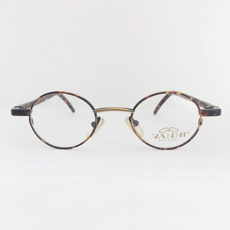 Vanni vintage eyeglasses frame, Mod 832 Matte tortoise metal frame ...