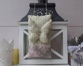 Door cushion fabric with floral butterfly and Pearl - liberty fabric cushion - pillow decorative spring