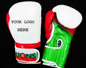 Lions-Boxing gloves/Carbon White