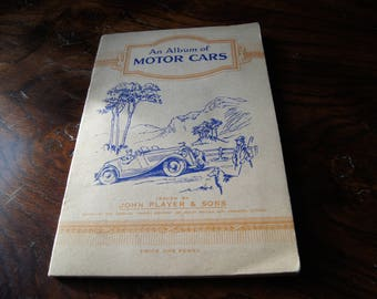 Rare John Player & Sons Motor Cars Second Series Cigarette Card Album