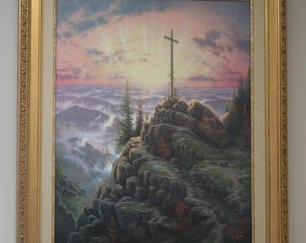 "Thomas Kinkade ""Sunrise"", Vintage, 42"" X 32"" -LOCAL PICKUP ONLY in Aiken South Carolina"