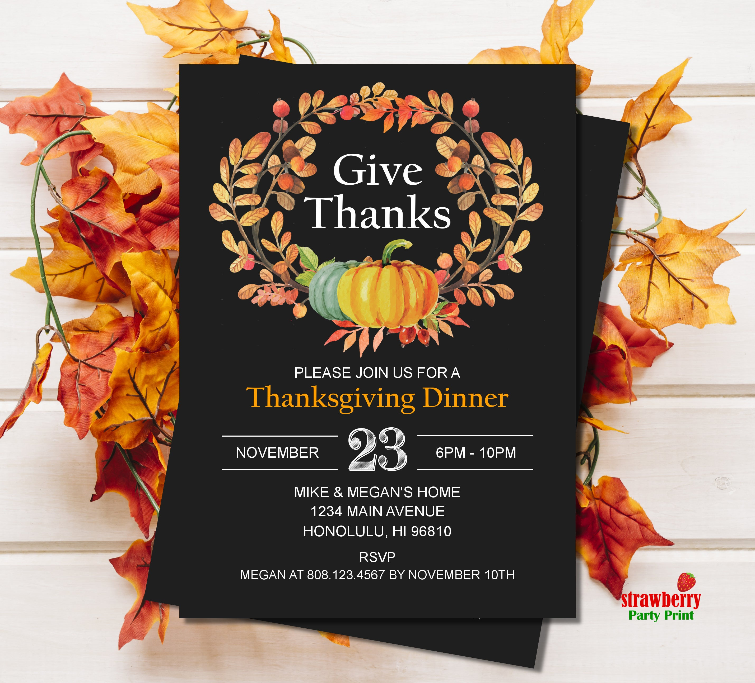 Thanksgiving Invitations. Thanksgiving Dinner Invitation ...