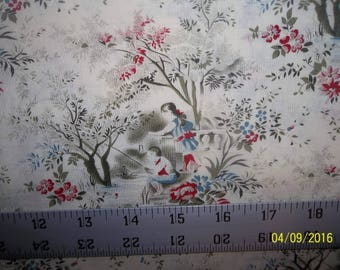 Early Elegance Toile Cotton Fabric #46