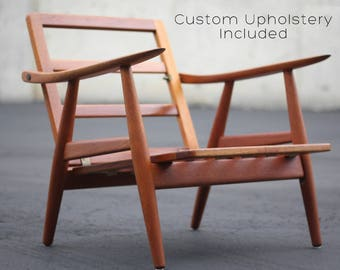 Hans Wegner GE-270 Teak Lounge Chair for Getama