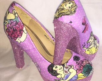 Disney Princess shoes / heels * * * uk sizes 3-8 * * *