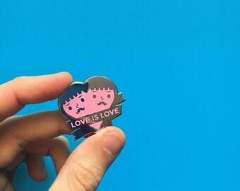 Love is Love // LGBT Gay Rights // Enamel Pin // Kawaii