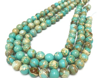 8mm Aqua Terra Jasper Beads,Imperial Jasper,Round Beads,Gemstone Beads,Wholesale Beads