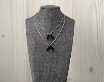 Black Crescent Horn Necklace