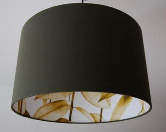 "Lampshade ""Ficus"" (ocher-khaki)"