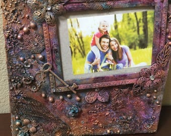 Mixed Media Picture Frame Art •