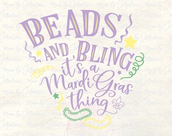 Beads and bling svg, mardi gras svg, happy mardi gras svg, mardi gras svg file, mardi gras cut file, fat tuesday svg, mardi gras graphic