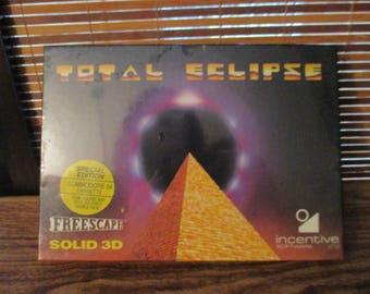 Commodore 64 Cassette Total eclipse 1 & 2 Freescape Solid 3D Incentive Software (NEW)