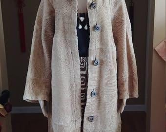 Broadtail Persian Lamb Swakara Reversible  Shearling Fur Coat High Quality Fur
