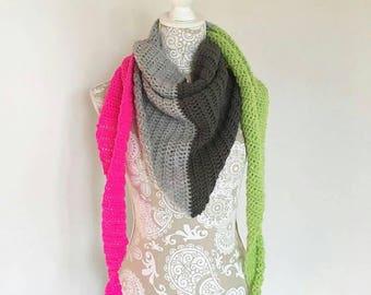Triangle scarf wrap crochet handmade to order UK