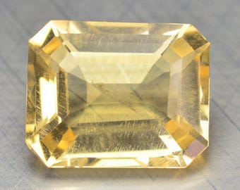 3.70 Cts Spectating Citrine Natural Loose Gemstones Octagon Shape 10 x 8.1 x 6.8 mm